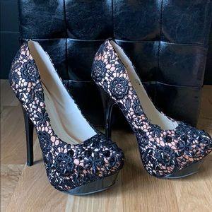Like new! Size 8 black high heels